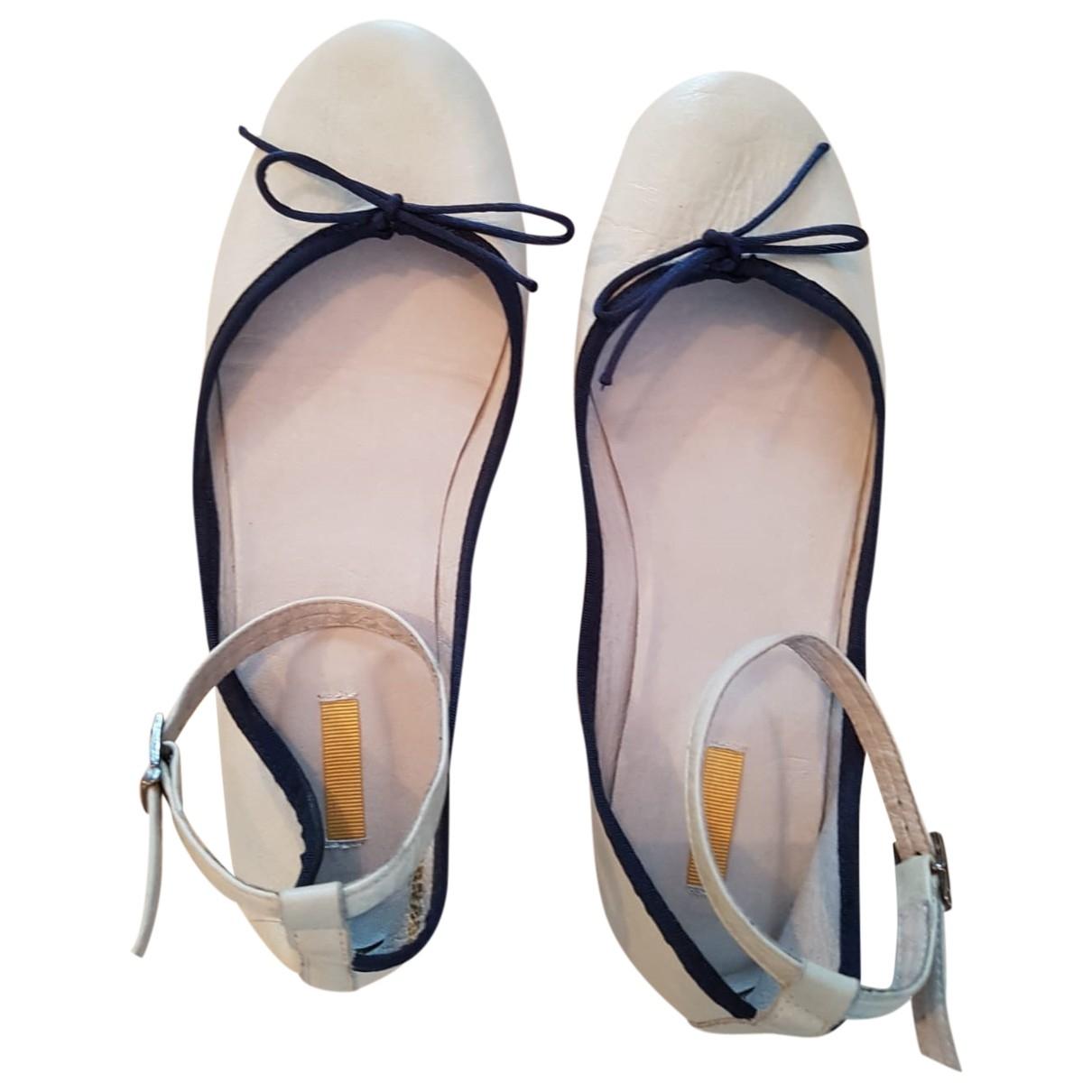 Bill Tornade \N Ballerinas in  Weiss Leder