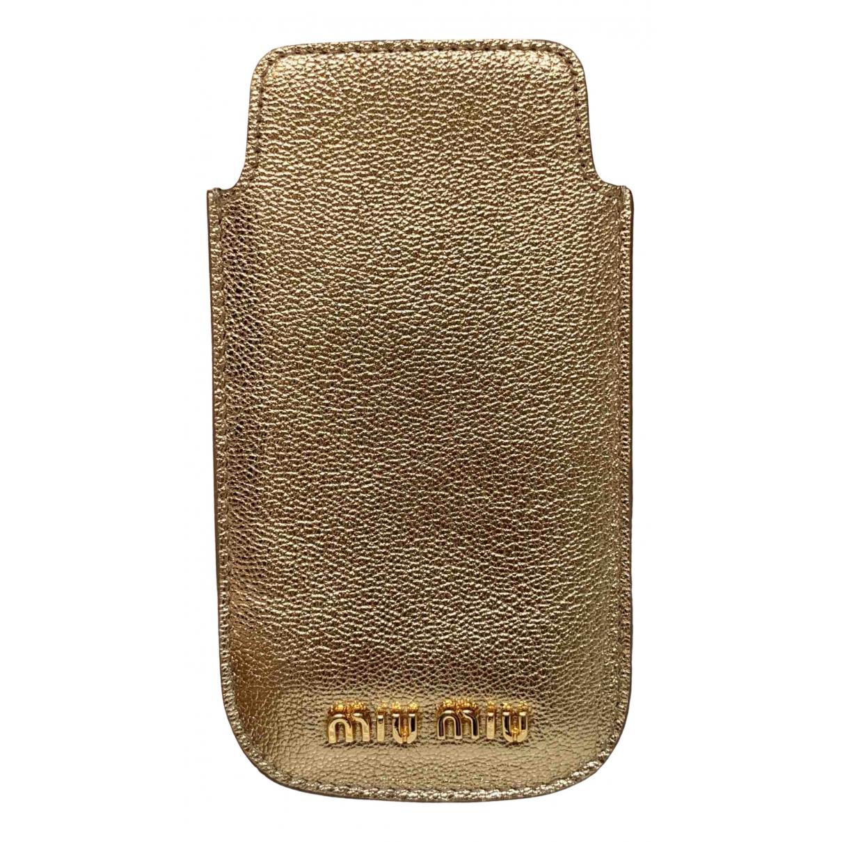 Miu Miu - Accessoires   pour lifestyle en cuir - dore
