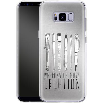 Samsung Galaxy S8 Plus Silikon Handyhuelle - Weapons Of Mass Creation von Bianca Green