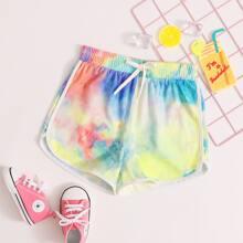 Girls Tie Dye Dolphin Shorts