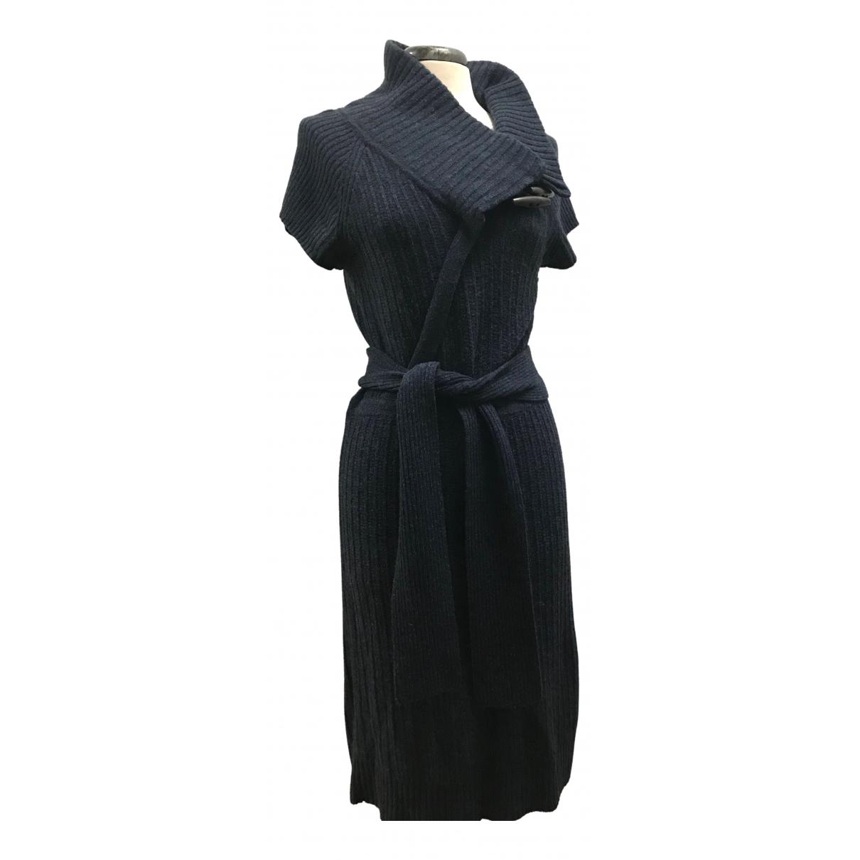 Diane Von Furstenberg \N Kleid in  Marine Wolle