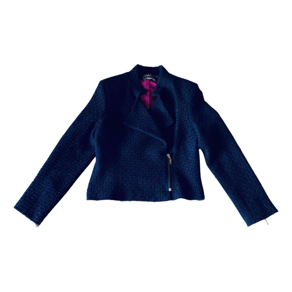 - Veste   pour femme en laine - bleu