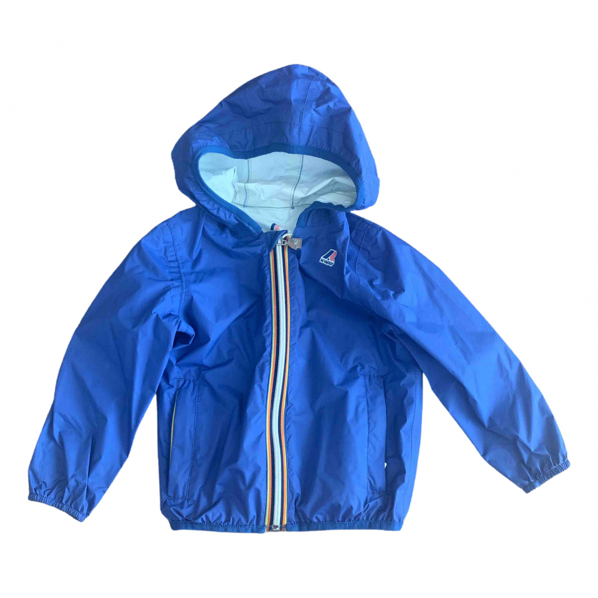 K-way \N Jacke, Maentel in  Blau Polyester
