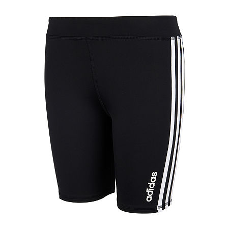 adidas Big Girls Bike Short, Medium (10-12) , Black