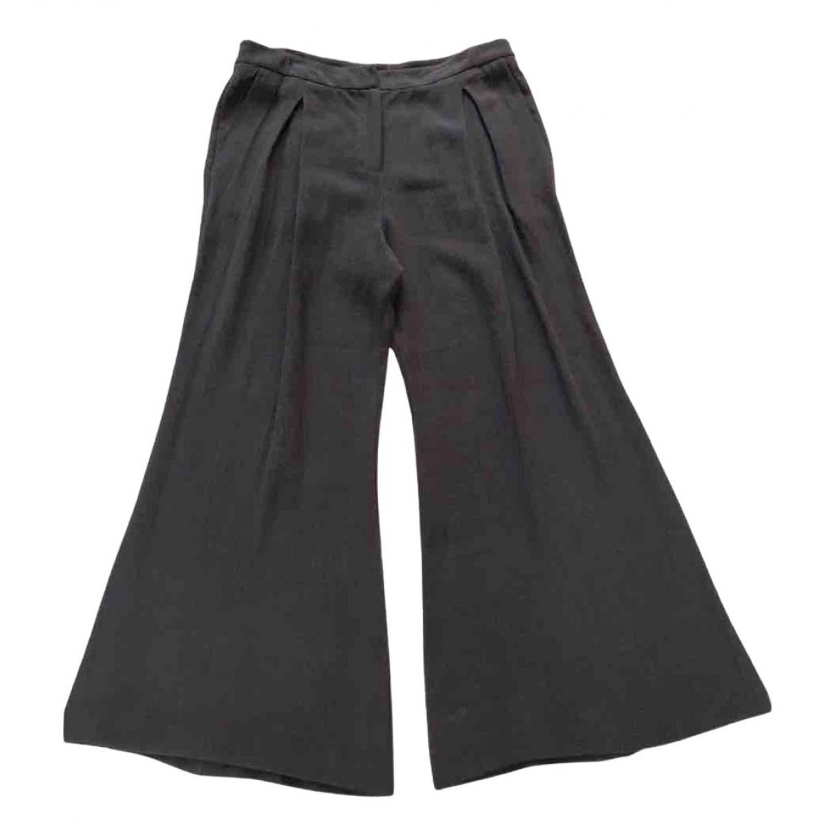 Dusan - Pantalon   pour femme en lin - gris