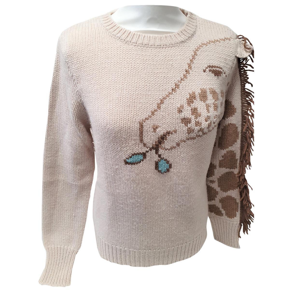Marc Jacobs - Pull   pour femme en laine - beige