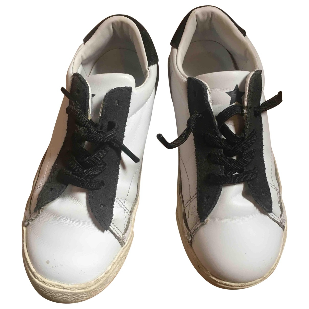 Douuod \N White Leather Trainers for Kids 30 EU
