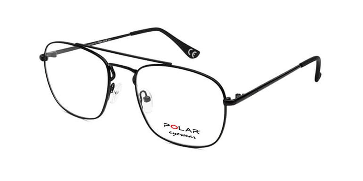 Polar PL Jose 76 Men's Glasses Black Size 55 - Free Lenses - HSA/FSA Insurance - Blue Light Block Available