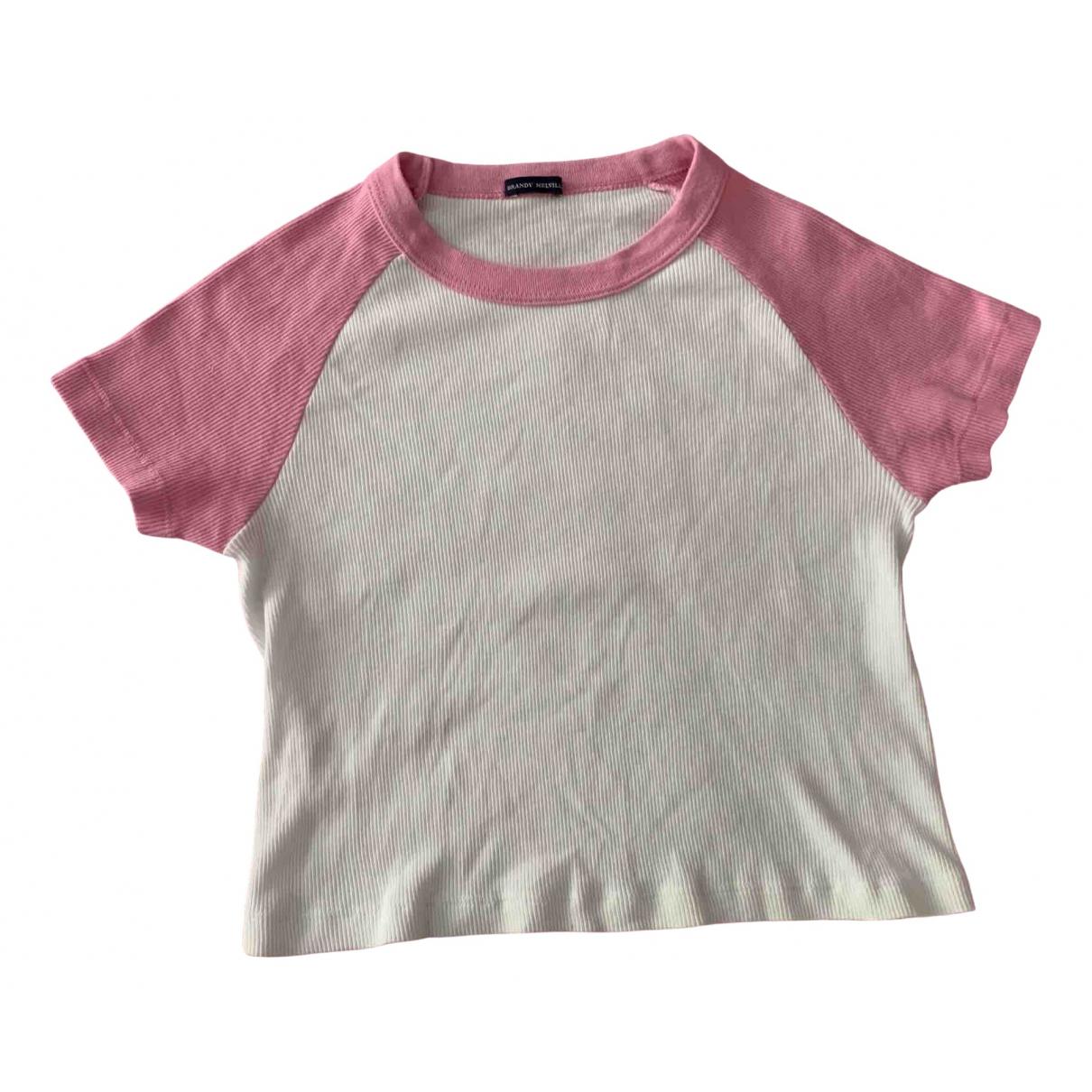 Brandy Melville - Top   pour femme en coton - blanc