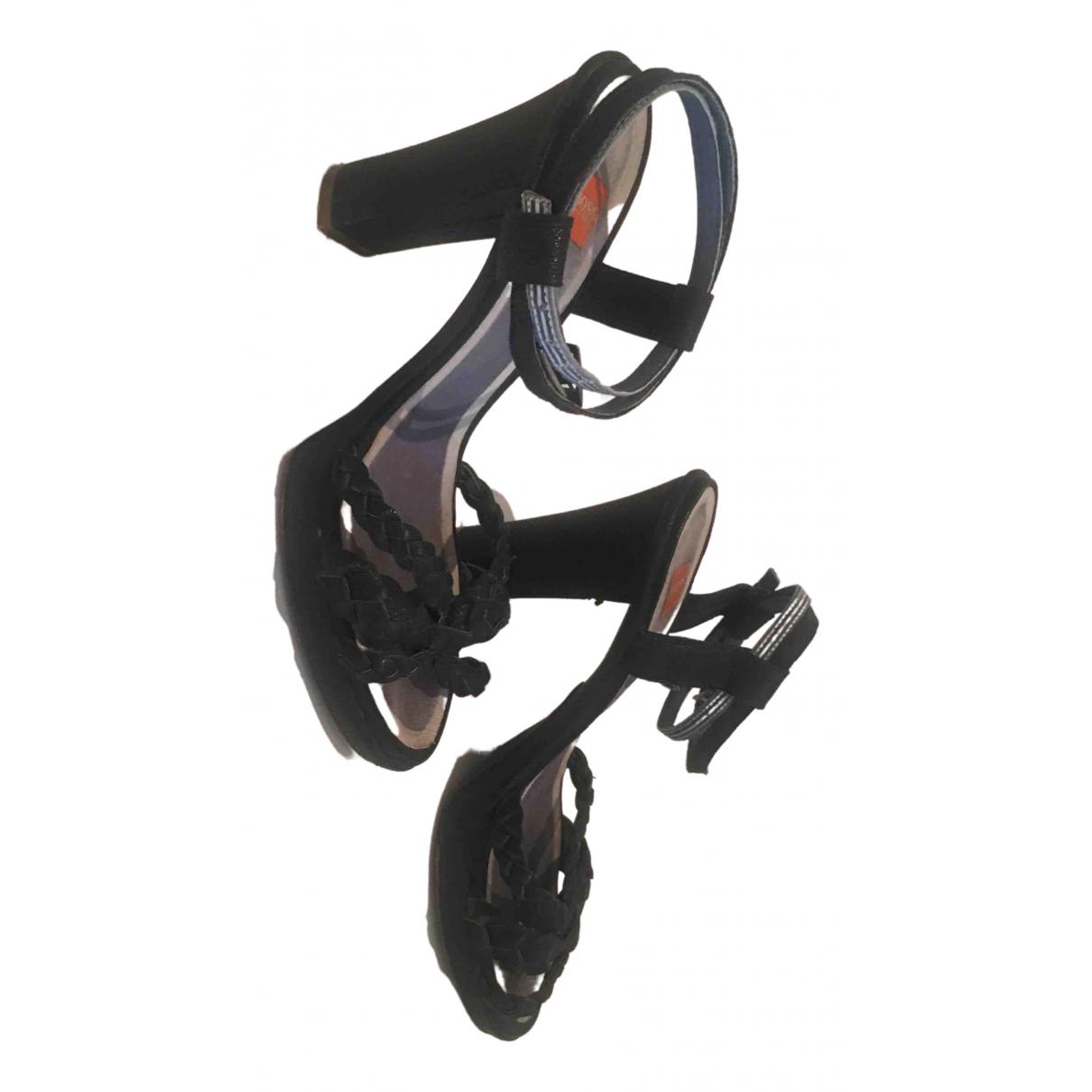 Boss \N Navy Leather Sandals for Women 38 EU