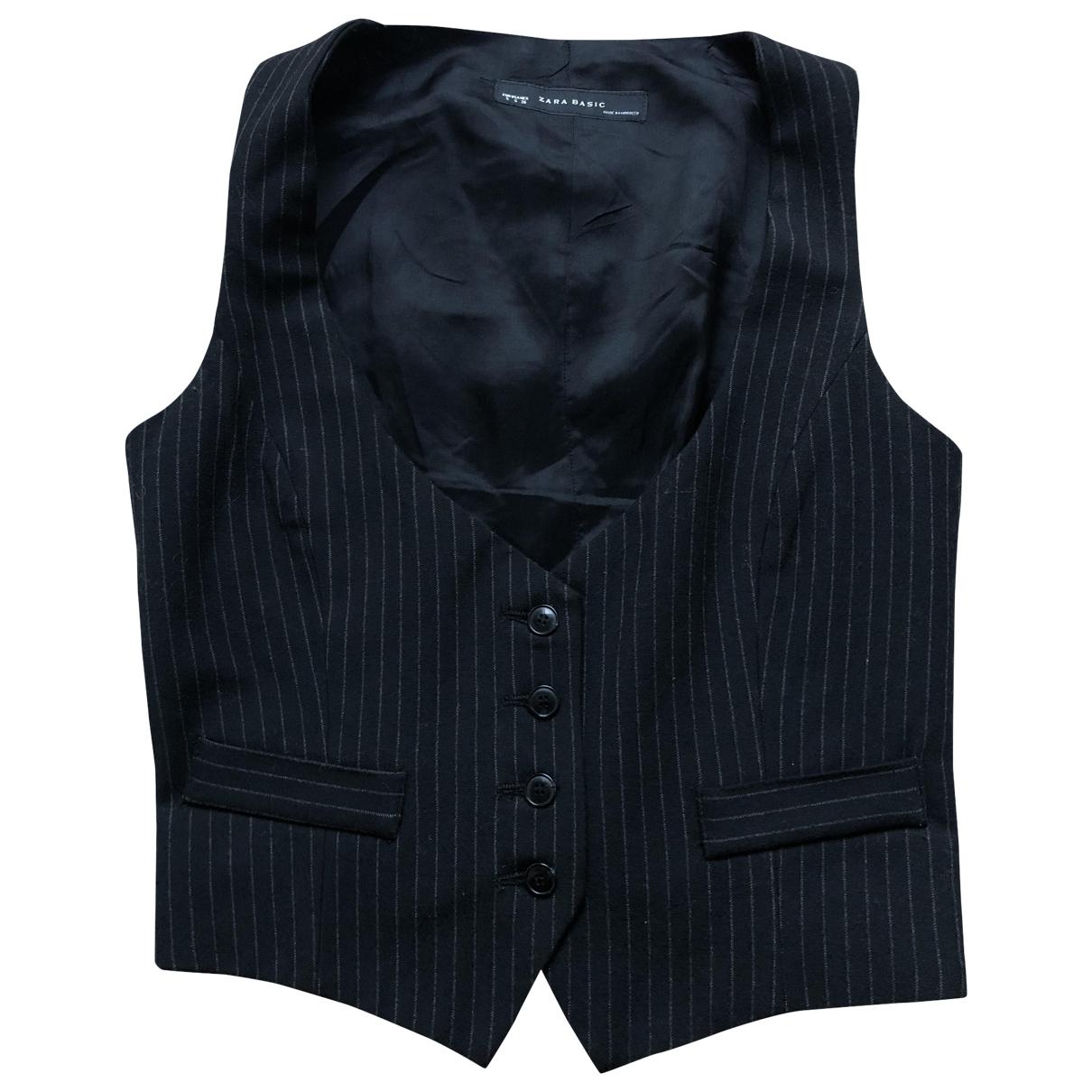 Zara - Pull   pour femme en laine - anthracite