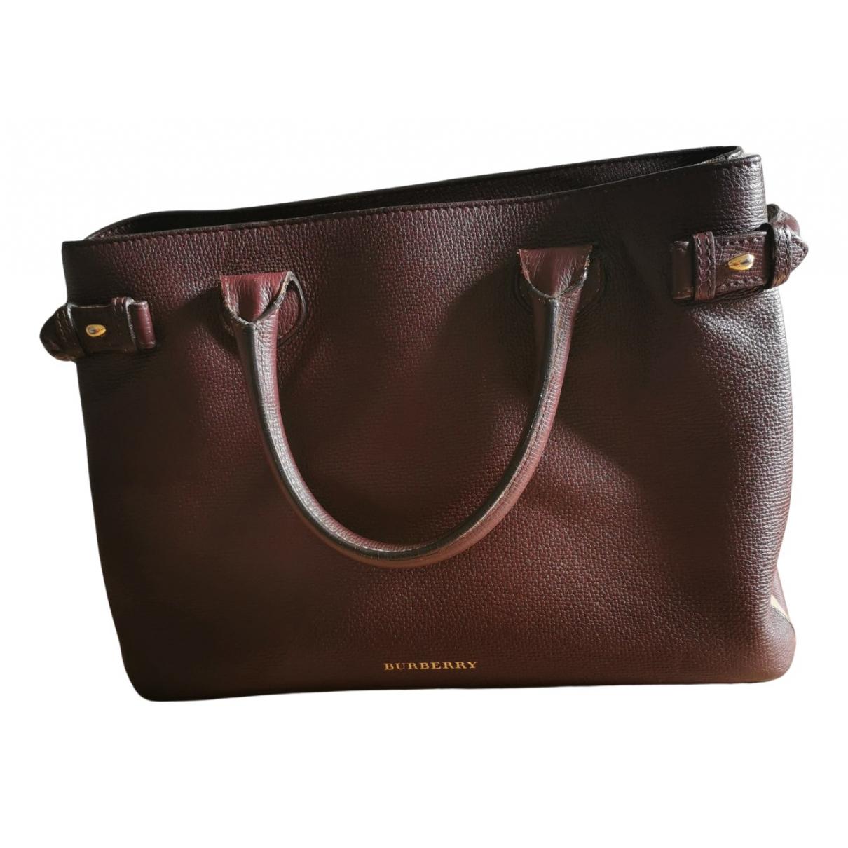 Burberry The Banner  Burgundy Leather handbag for Women N