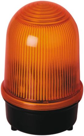 Werma 838 Yellow Xenon Beacon, 230 V ac, Blinking, Surface Mount