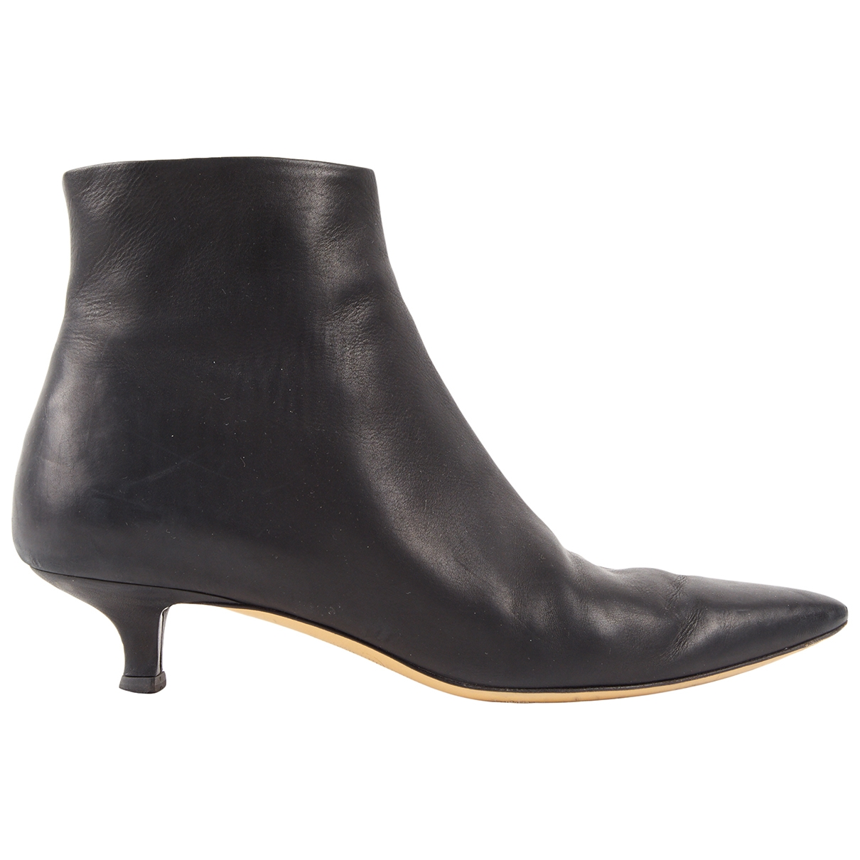 The Row \N Black Leather Ankle boots for Women 36.5 EU