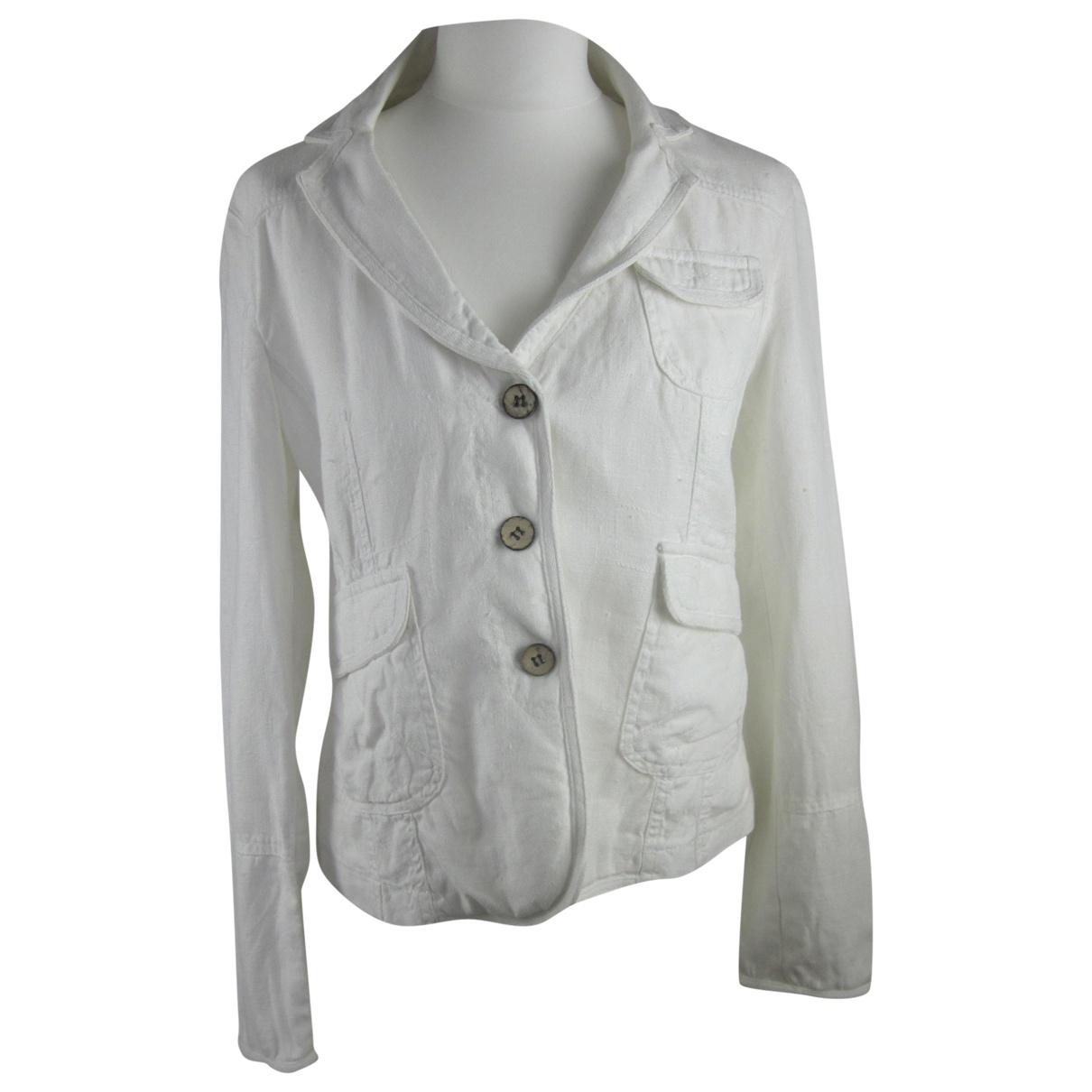 tophop \N White Linen jacket for Women 14 UK