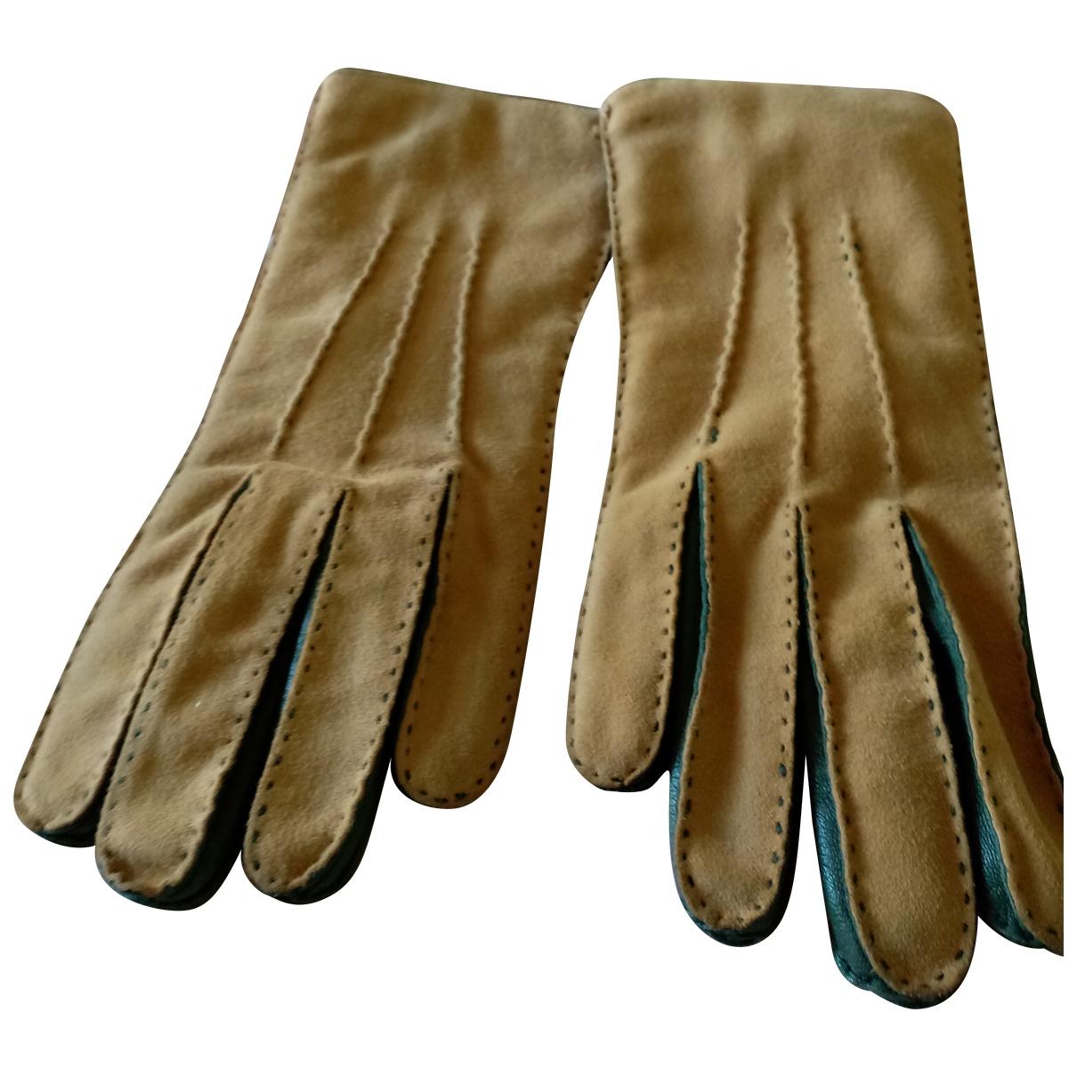 Malo \N Handschuhe in  Beige Leder