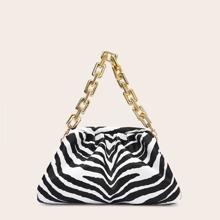 Tasche mit Zebra Muster und Rueschen