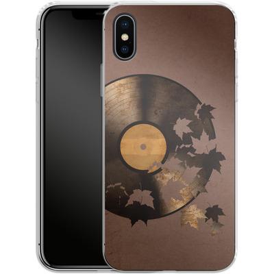 Apple iPhone X Silikon Handyhuelle - Autumn Song von Terry Fan