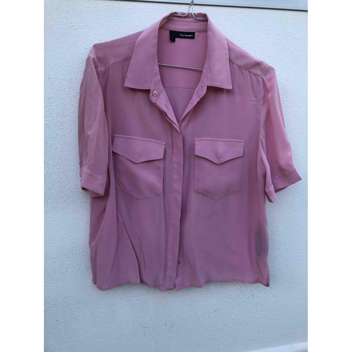 The Kooples - Top   pour femme en soie - rose