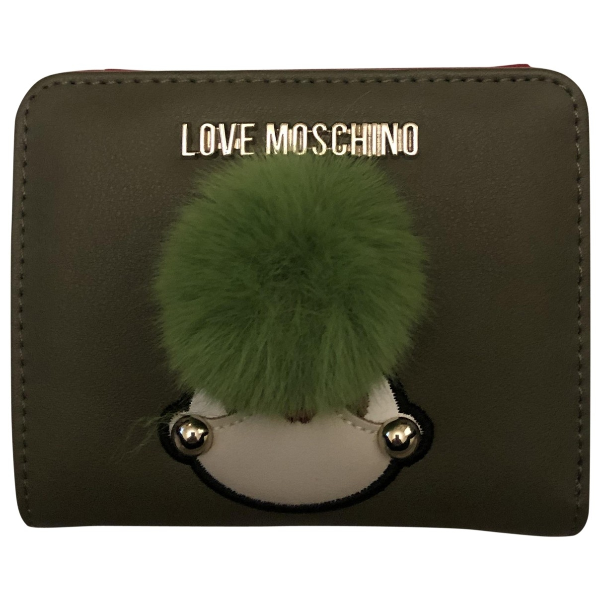 Moschino Love \N Green Leather wallet for Women \N