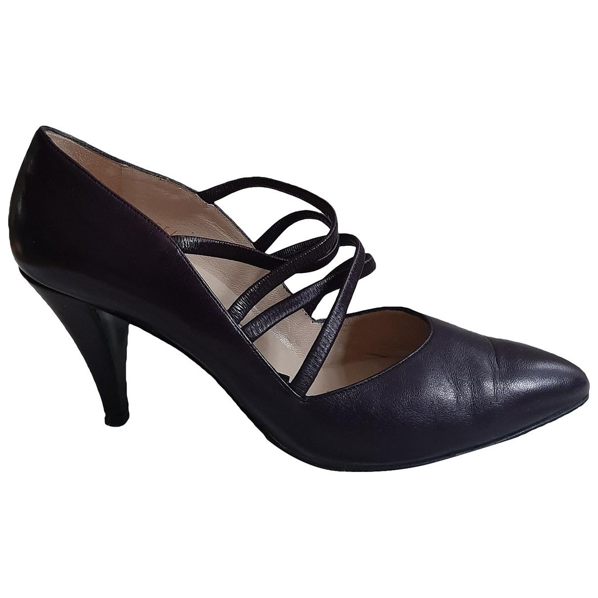 Baldinini - Escarpins   pour femme en cuir - violet