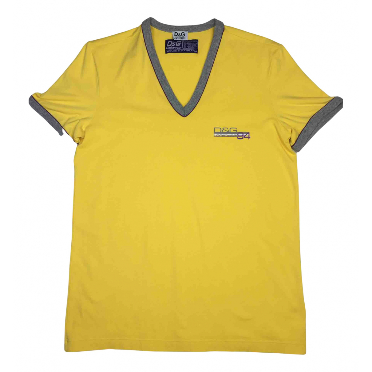 D&g N Yellow Cotton T-shirts for Men M International