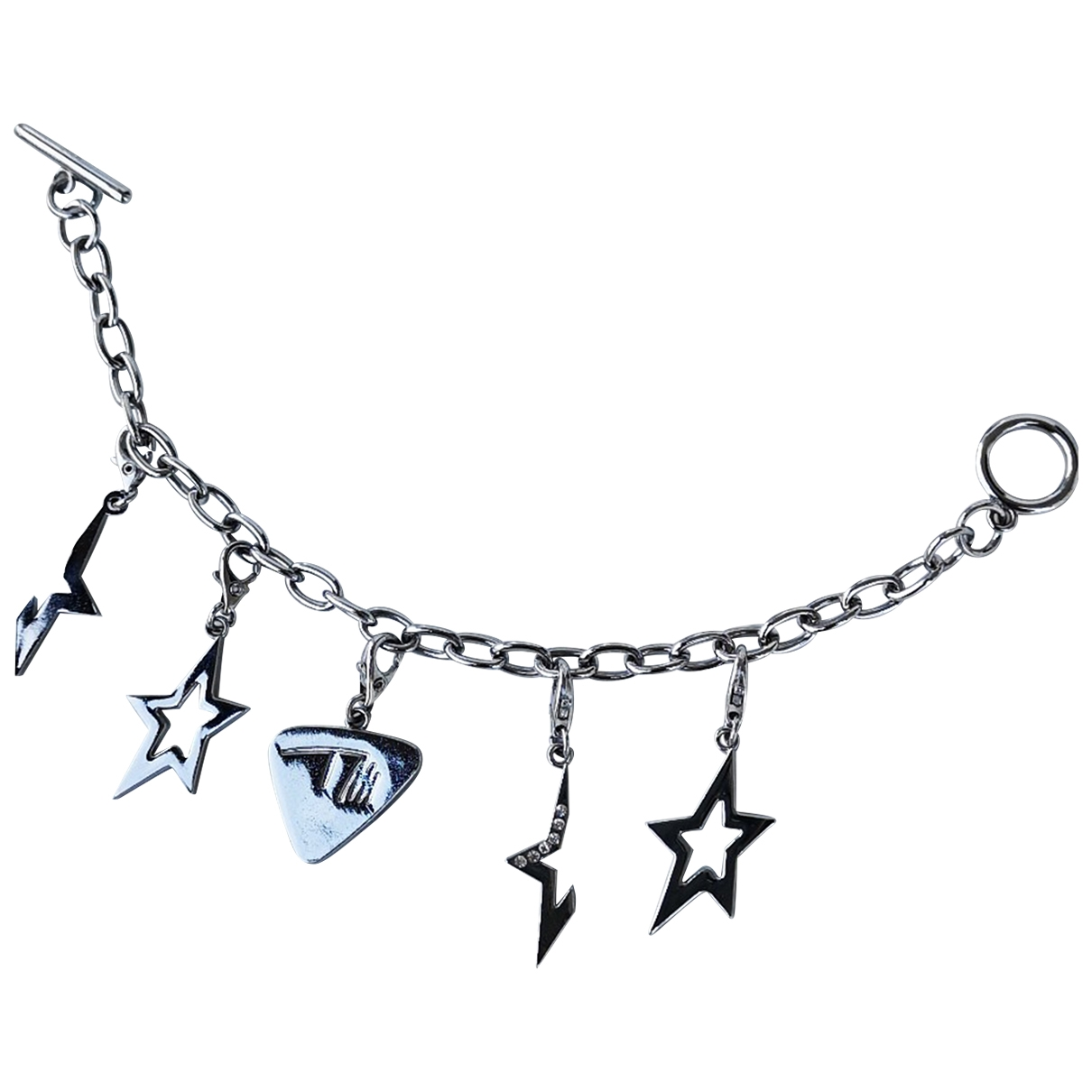 Thierry Mugler \N Armband in  Silber Stahl