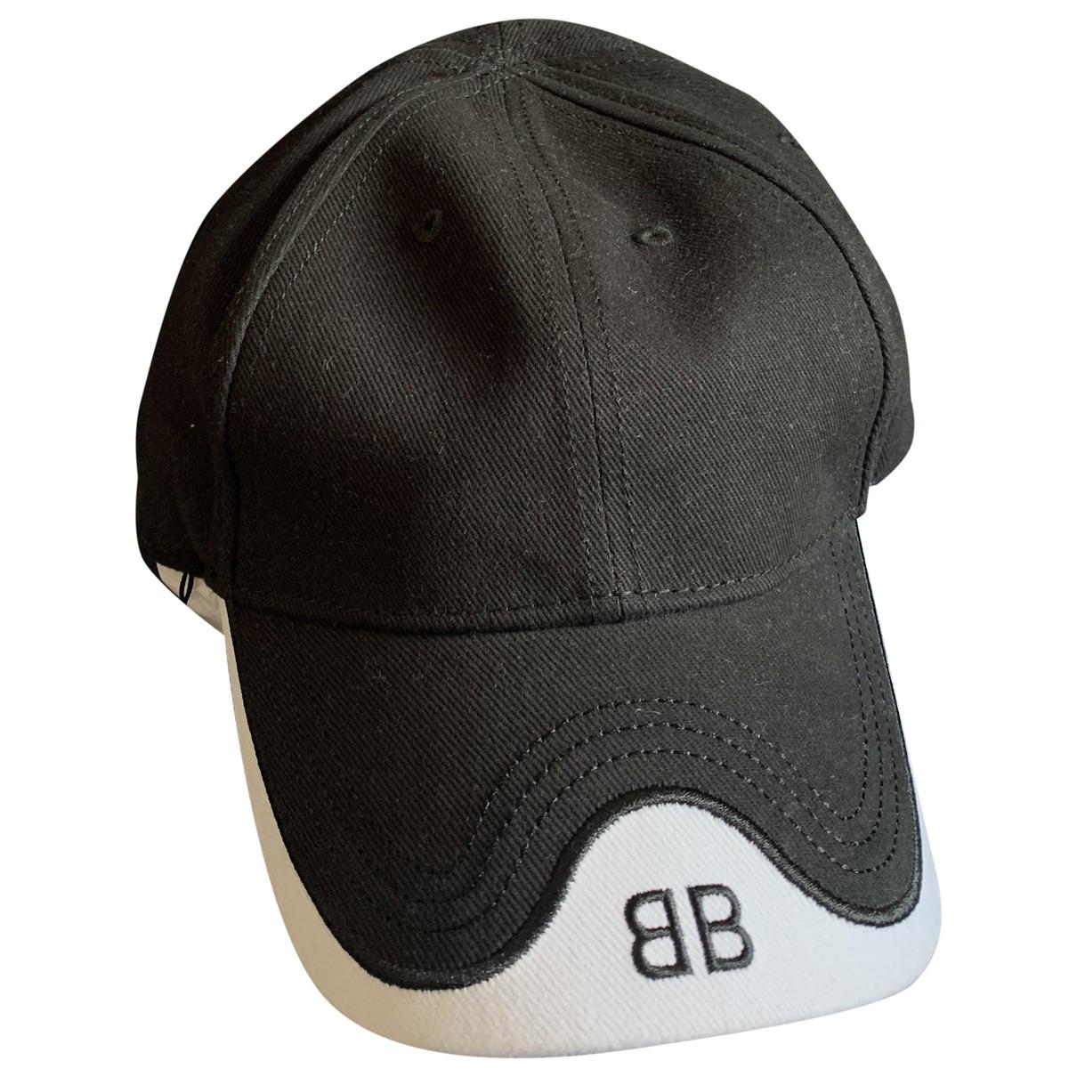 Balenciaga - Chapeau & Bonnets   pour homme en coton - noir