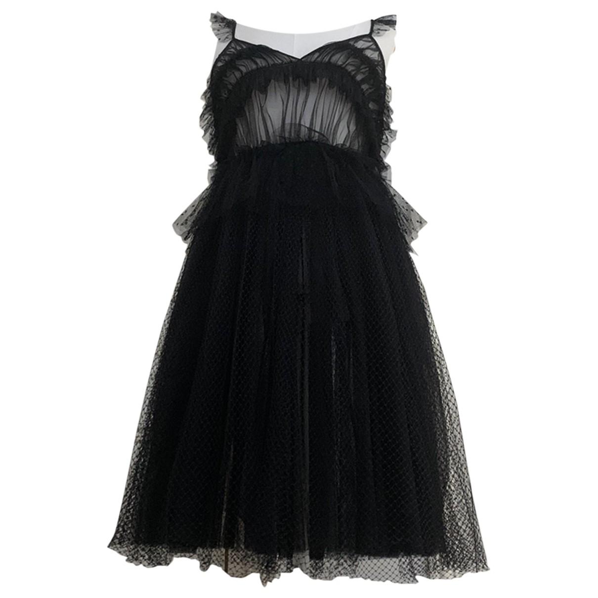 Msgm \N Kleid in  Schwarz Spitze