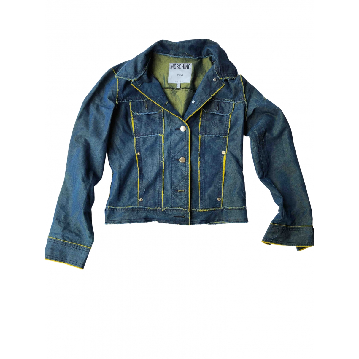 Moschino Cheap And Chic - Veste   pour femme en coton - bleu