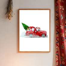 Christmas Cartoon Graphic Wall Painting Without Frame