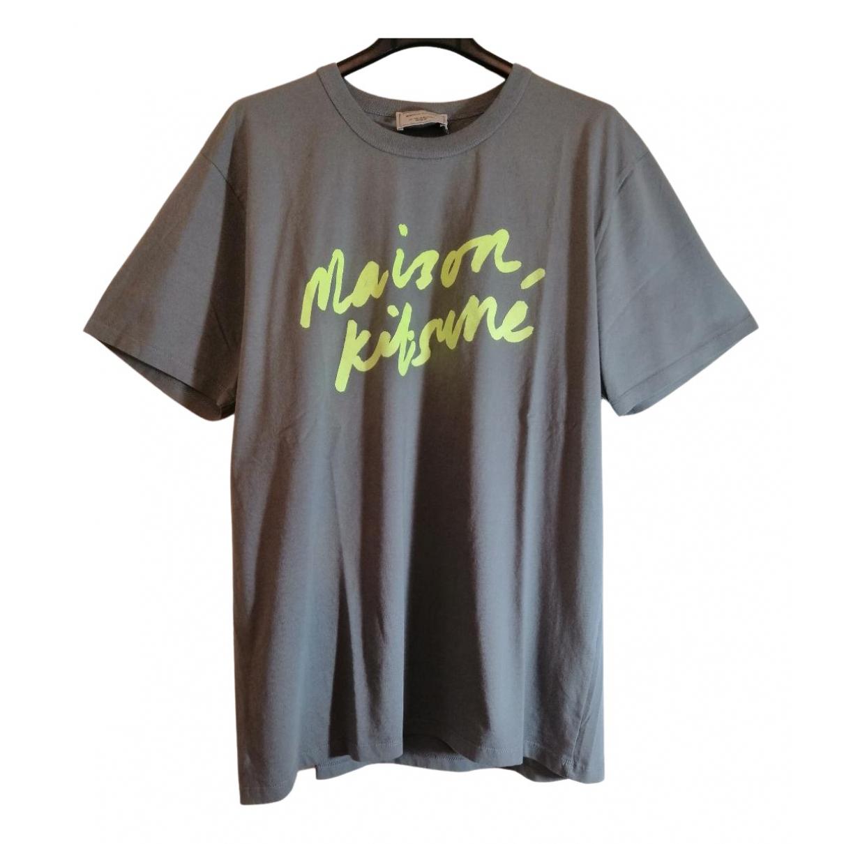 Maison Kitsune - Tee shirts   pour homme en coton - gris