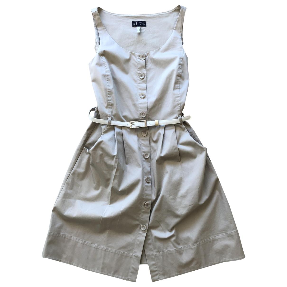 Armani Jean - Robe   pour femme en coton - elasthane - beige