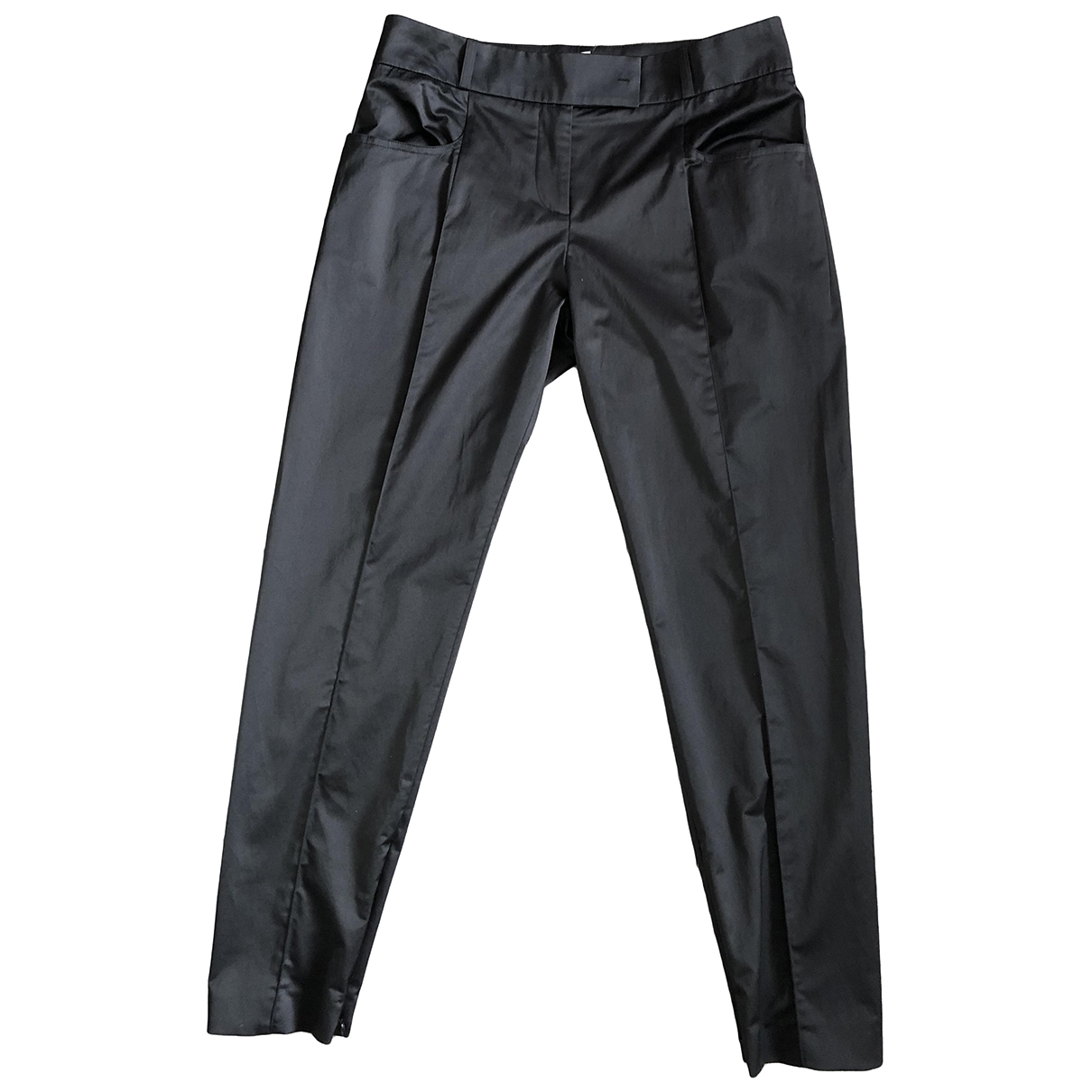 Paule Ka \N Black Cotton Trousers for Women 40 FR