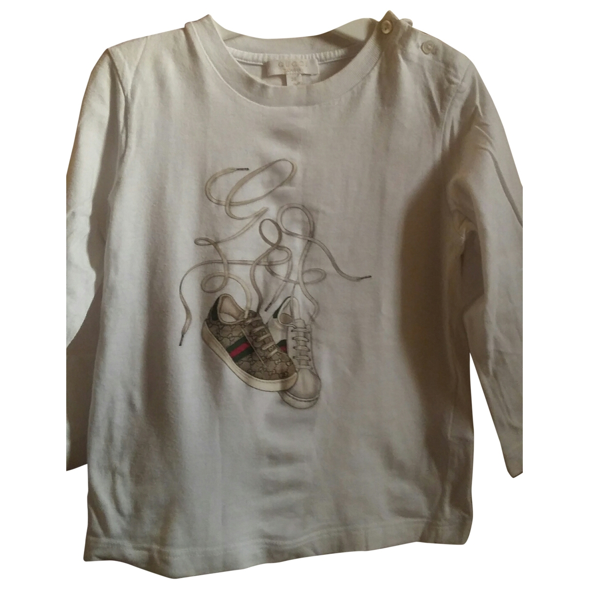 Gucci \N White Cotton  top for Kids 2 years - up to 86cm FR