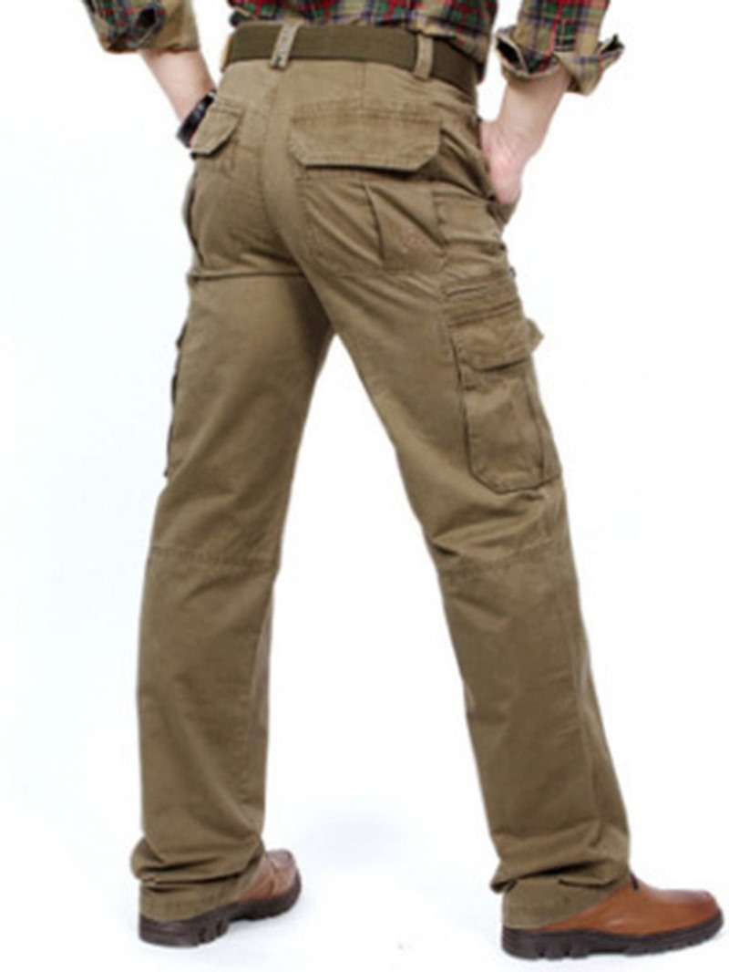 Ericdress Plain Zipper European Men's Casual Pants