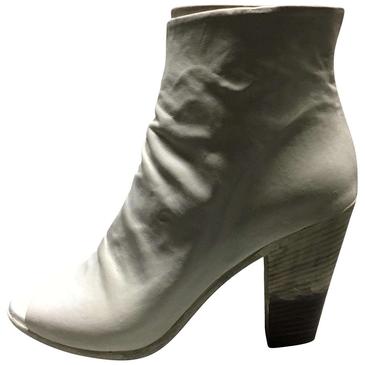 Officine Creative - Boots   pour femme en cuir - blanc