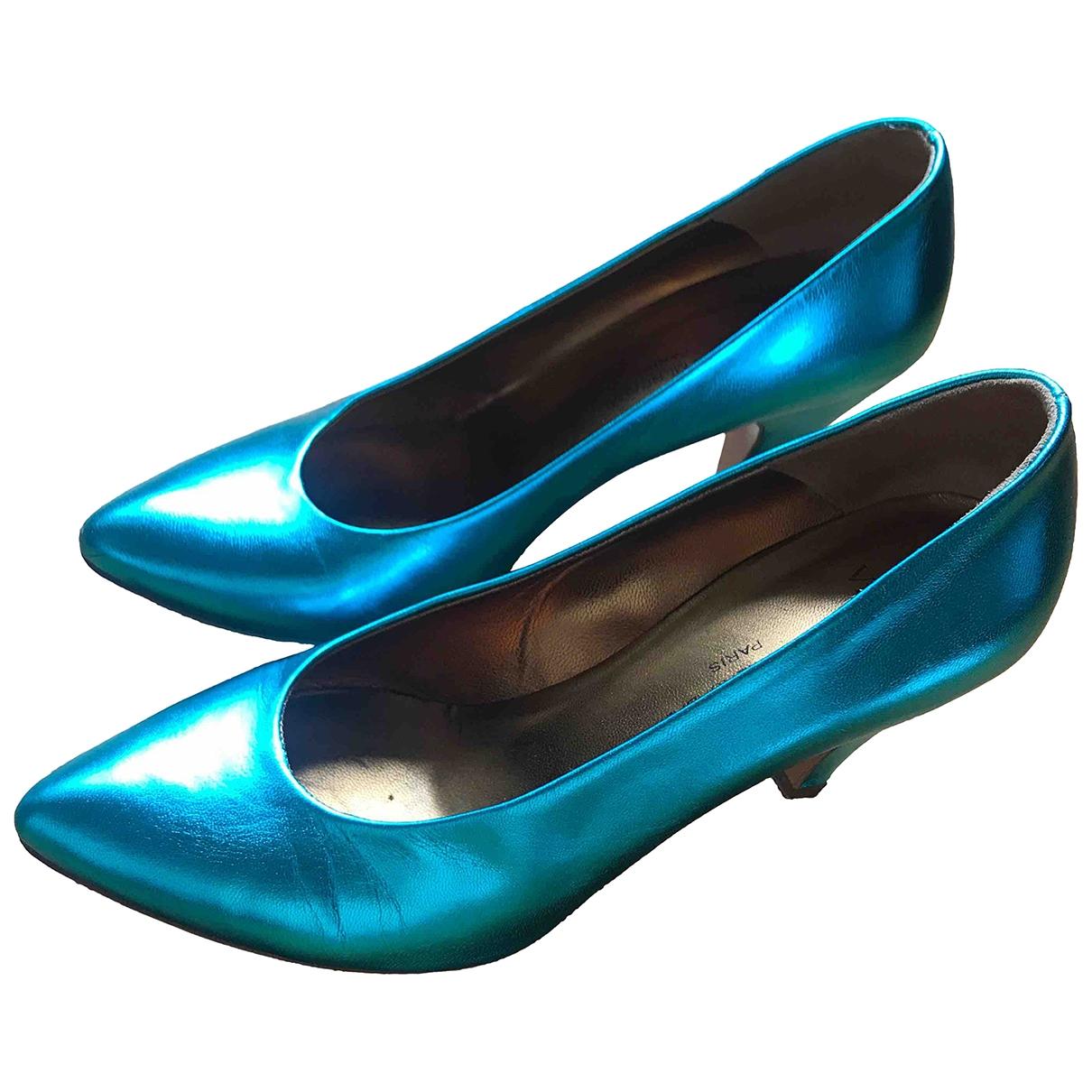 Atelier Mercadal \N Turquoise Leather Heels for Women 37 EU