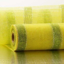 Lime Wide Strp Laser Deco Mesh - 21 X 10 Yards - Polypropylene / Cellophane - Wraps by Paper Mart