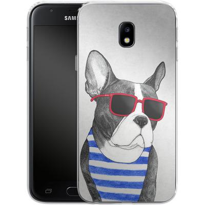 Samsung Galaxy J3 (2017) Silikon Handyhuelle - Frenchie Summer Style von Barruf