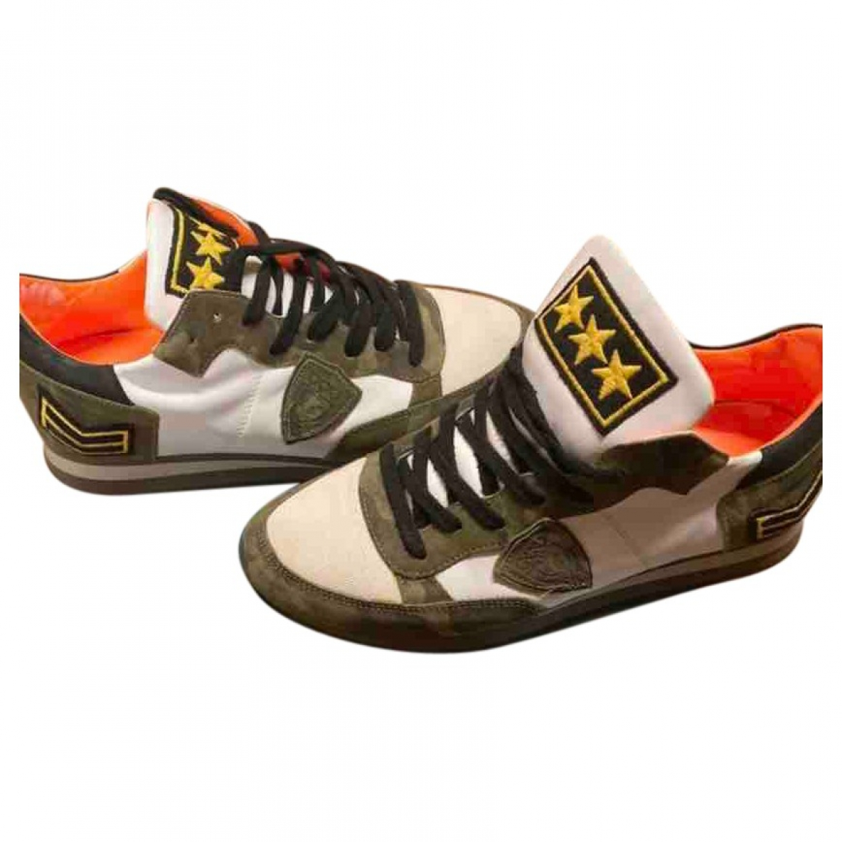 Philippe Model \N Sneakers in  Khaki Leder