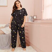 Conjunto de pijama con estampado de galaxia - grande