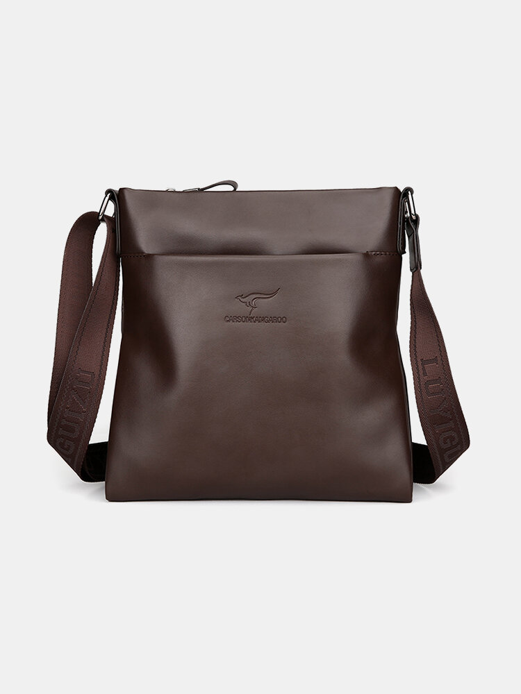 Men PU Leather Anti theft Crossbody Bag Shoulder Bag