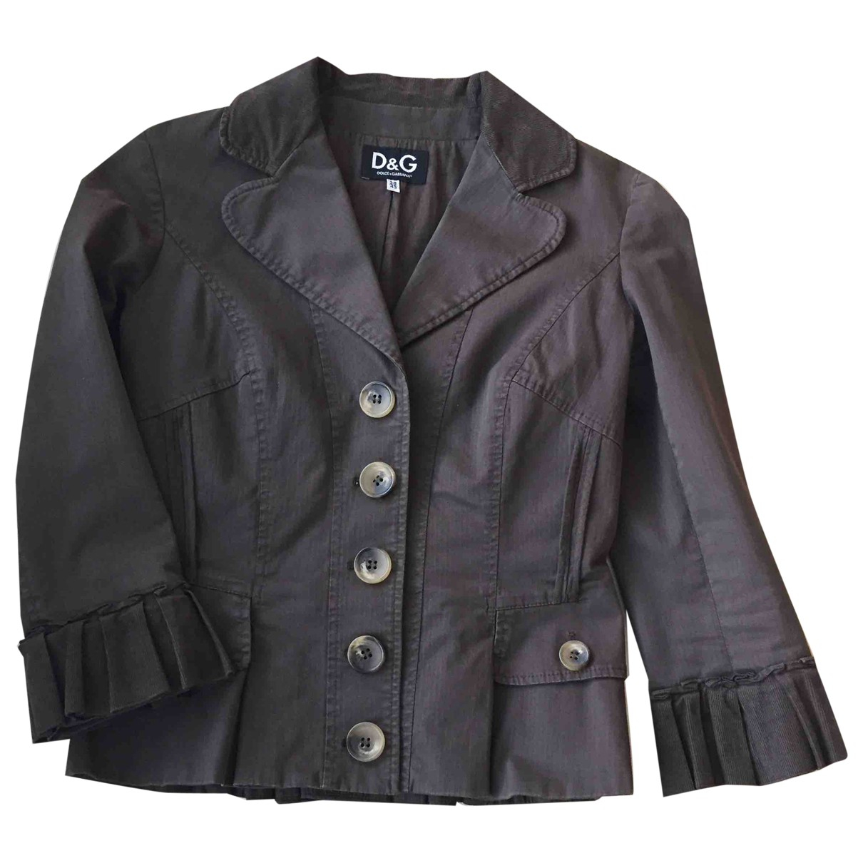 D&g N Brown Cotton jacket for Women 42 IT