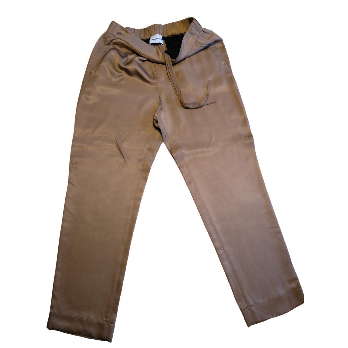 Bimba Y Lola \N Camel Trousers for Women 36 FR