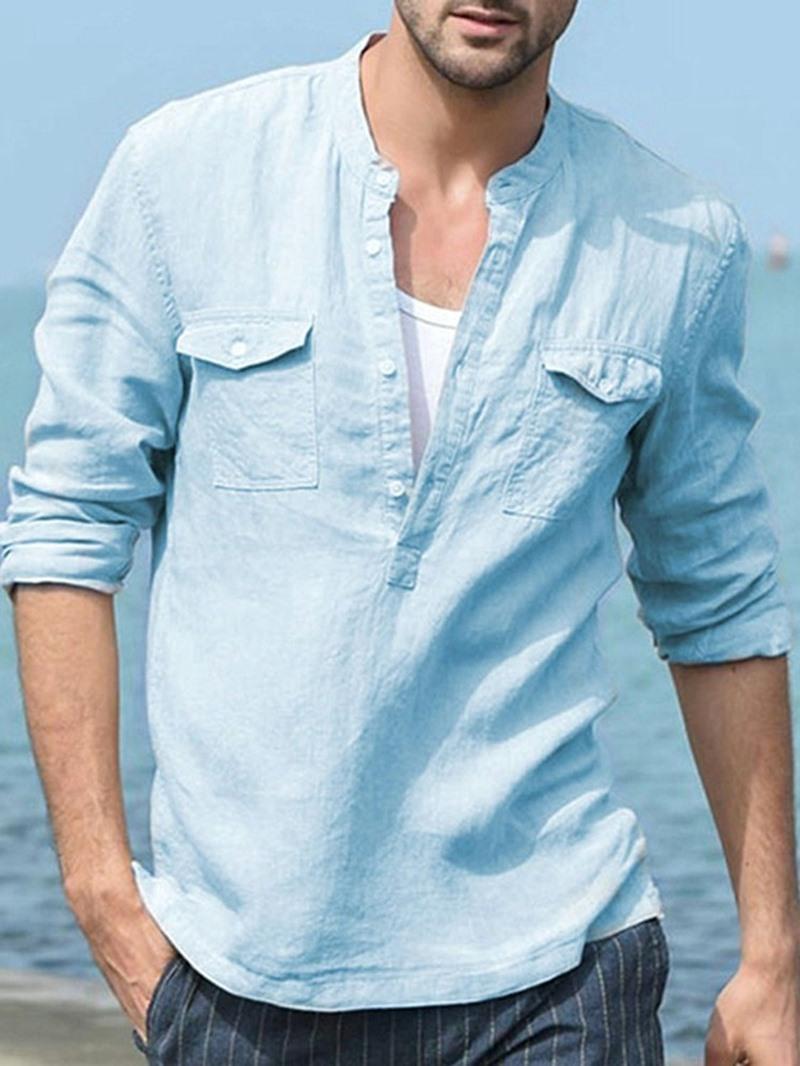 Ericdress Stand Collar Pocket Korean Fall Loose Shirt
