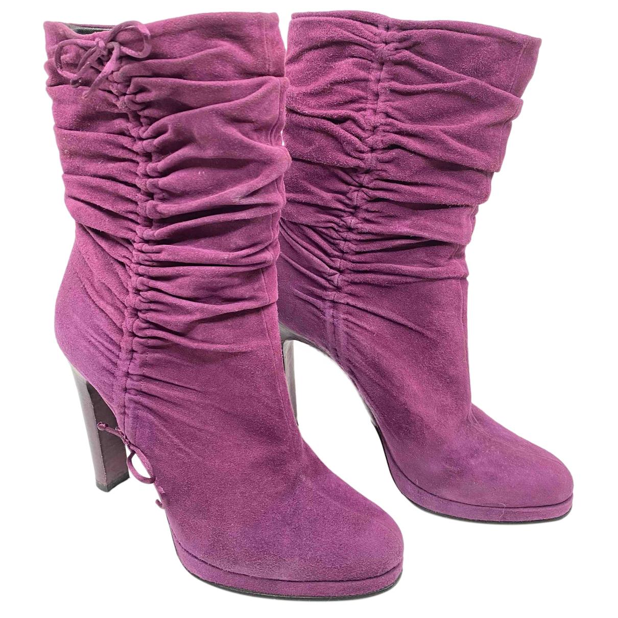 Gucci - Bottes Dionysus pour femme en suede - violet