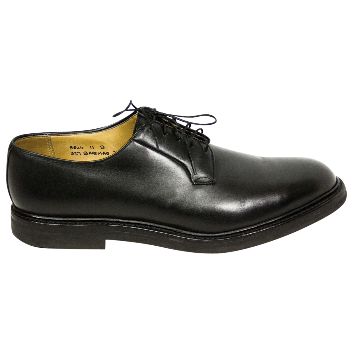 Non Signé / Unsigned \N Black Leather Lace ups for Men 11 UK