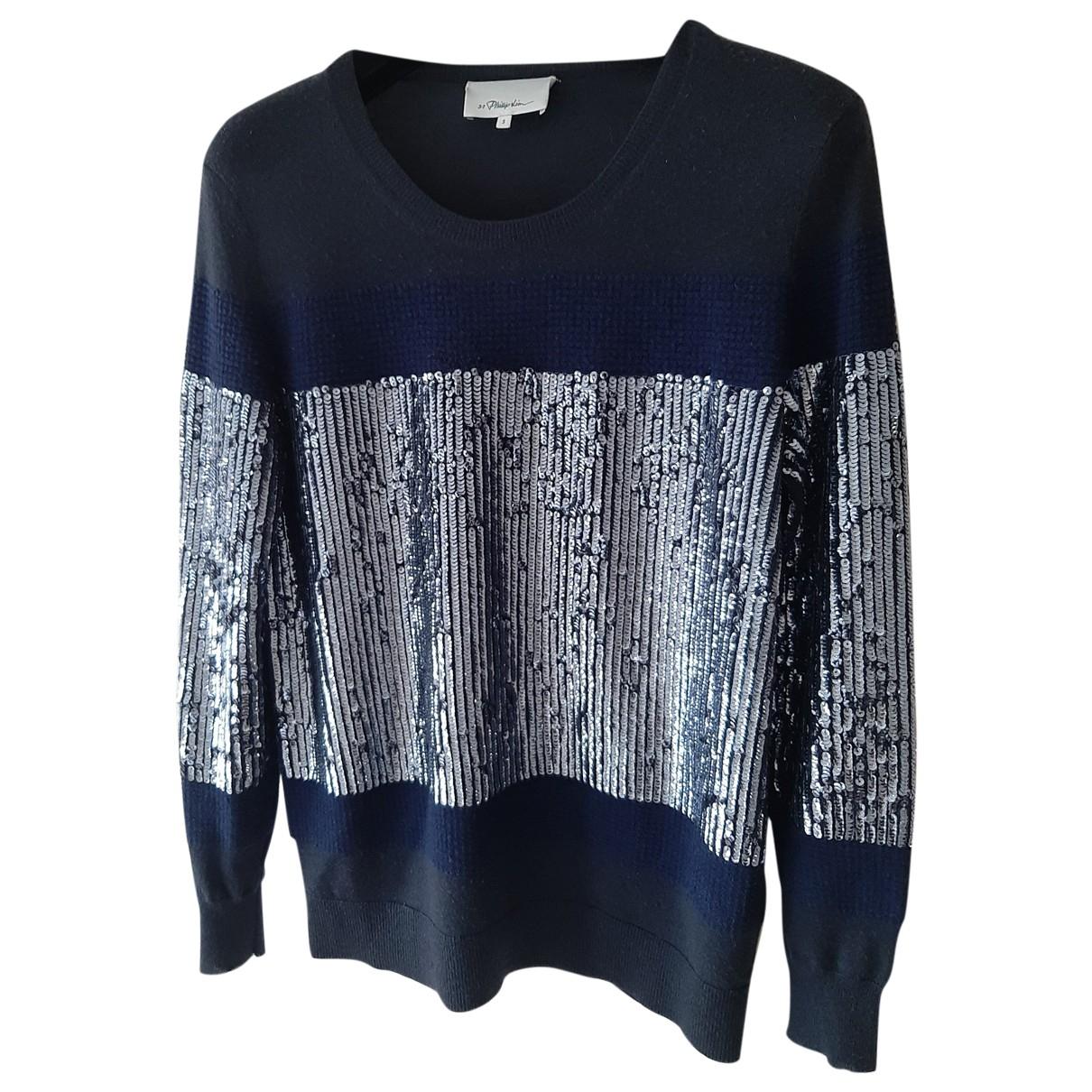 3.1 Phillip Lim - Pull   pour femme en laine - bleu