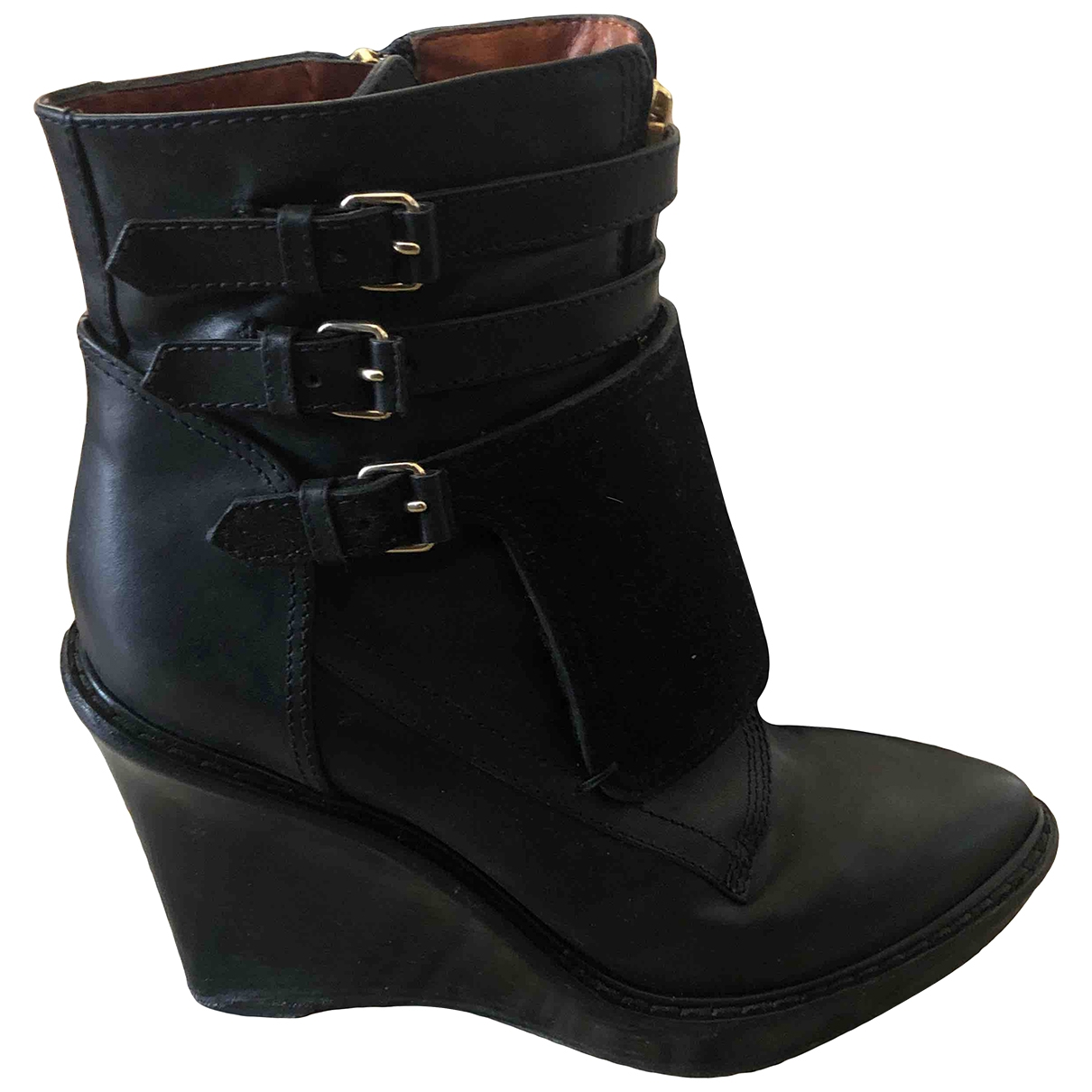 Givenchy \N Black Leather Ankle boots for Women 39.5 IT
